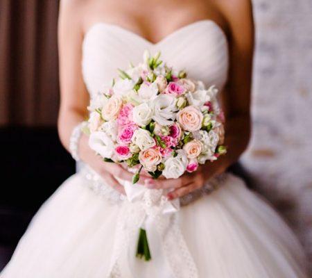 отказ от креатива при выборе свадебного букета, фото