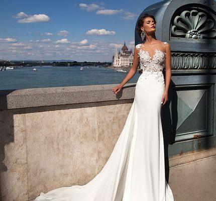 свадебное платье русалка, фото