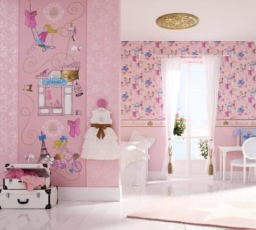 Обои: дизайн детской комнаты