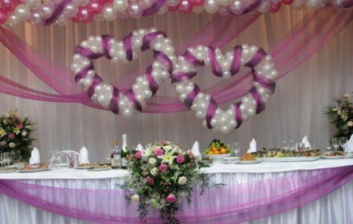 украшения для зала и столов, фото