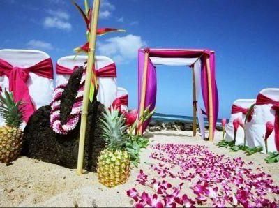 Свадьба в гавайском стиле, фото