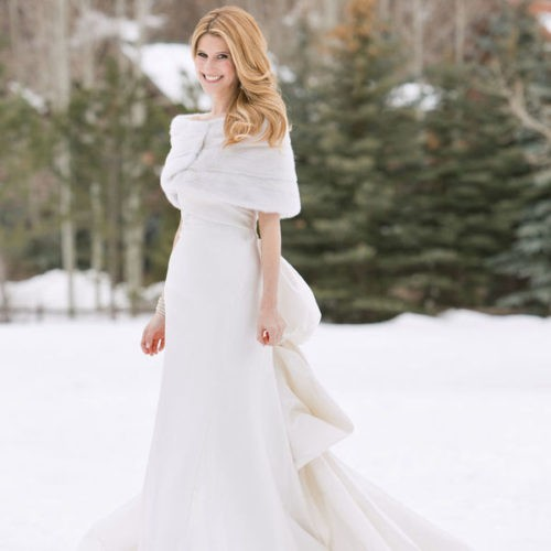 платье для зимней свадьбы, фото