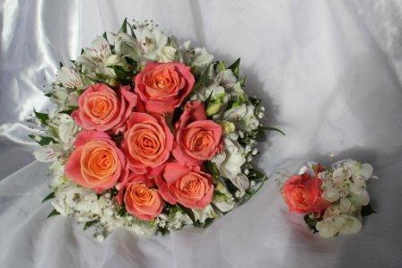 Подготовка букета невесты