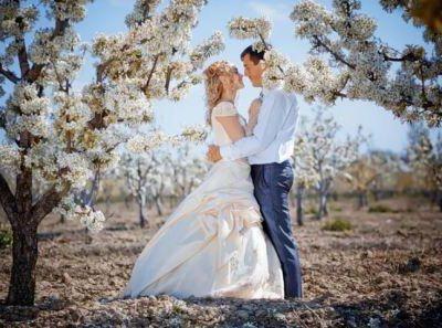 Лучшее время года для свадьбы, фото