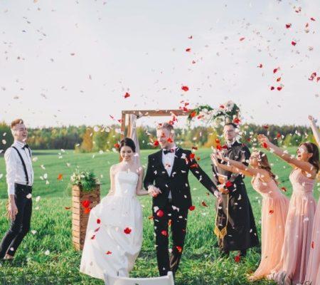 Молодежная свадьба на природе, фото