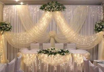Оформление зала на свадьбу, фото