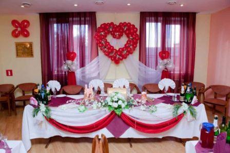 Варианты оформления свадебного зала