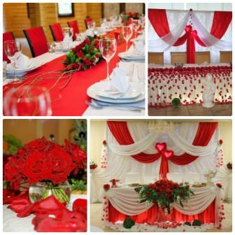 Организация свадьбы в красном стиле
