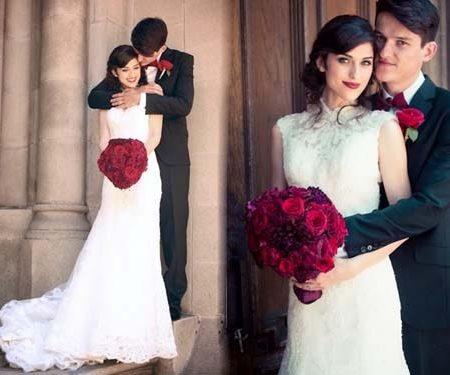 Не забудем про яркий букет невесты, фото
