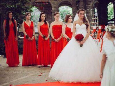 Свадьба в красном стиле, фото