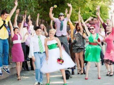 Свадьба в стиле диско, фото