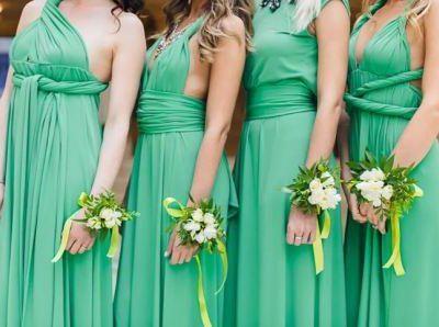 Свадьба в зеленом стиле, фото