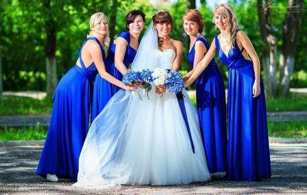 Свадьба синем стиле: проведение и оформление