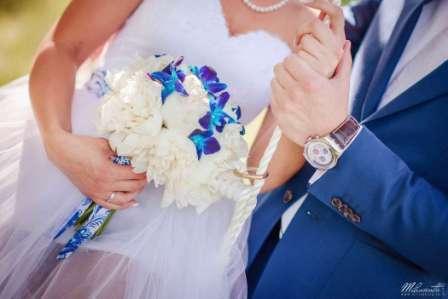 Свадебное тожество в синем стиле