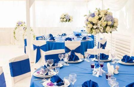 Свадьба в синем стиле