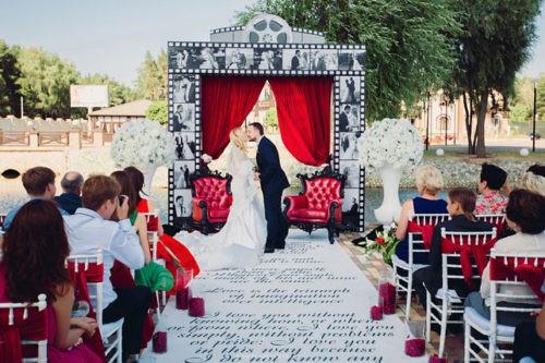Организация свадьбы в стиле кино, фото