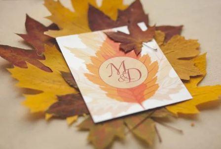 Свадьба осенью, идеи пригласительных