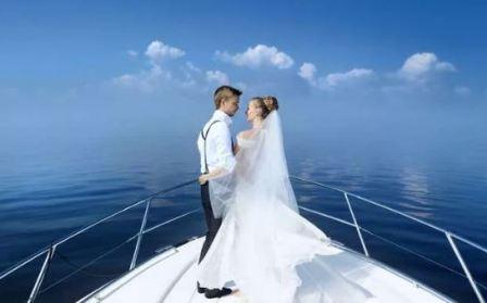 Свадьба на яхте, образы новобрачных