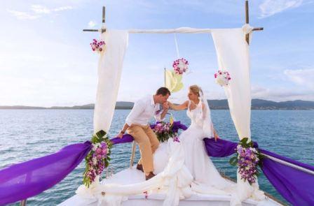 Оформление свадьбы на яхте