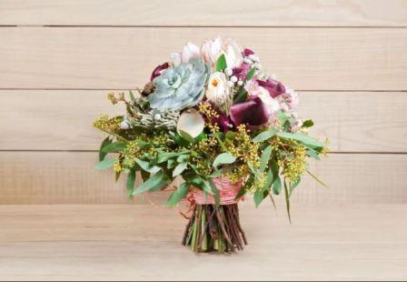 Свадебный букет невесты бридмайер