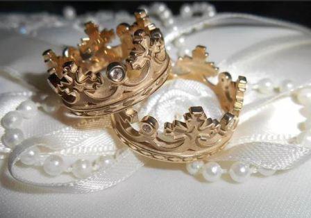 Обручальные кольца корона