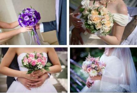Оттенки и цвета букета невесты