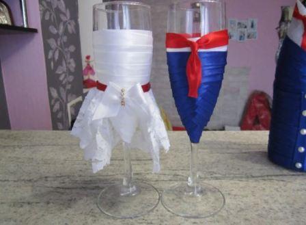 Бокалы на свадьбу самостоятельно