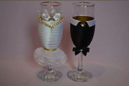 Свадебные бокалы для новобрачных