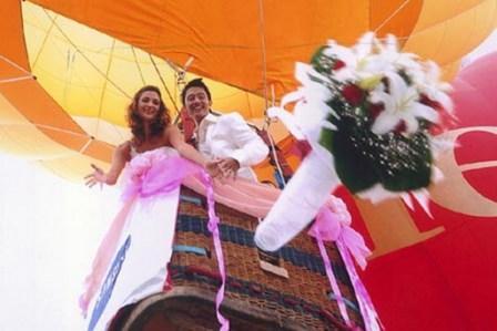 Как организовать свадебную прогулку на воздушном шаре