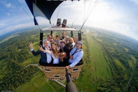 Оригинальные идеи для свадьбы: полет на воздушном шаре