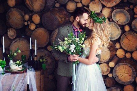 Свадьба в стиле рустик: невеста