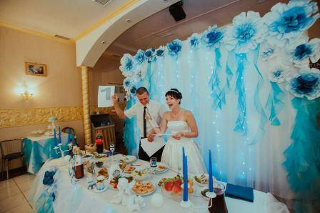 Оформление и меню свадьбы в стиле Завтрак у Тиффани