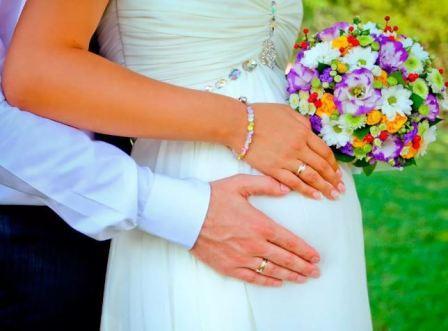 Свадьба во время беременности, фото