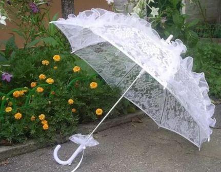 Свадебный парасоль для невесты