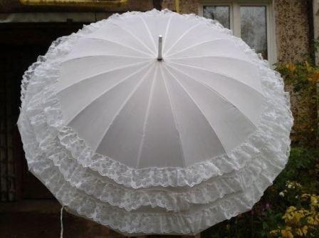 Свадебный парасоль из зонта