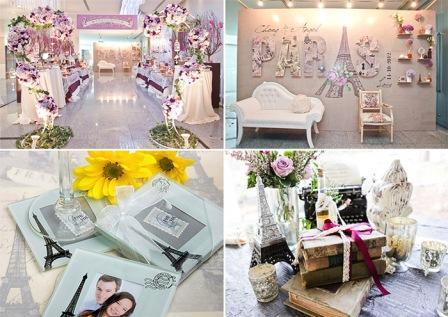 Свадьба в стиле Париж: декор и оформление