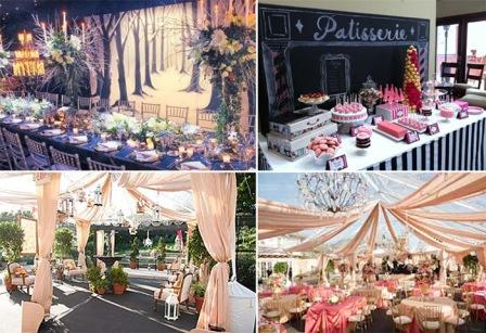 Проведение свадебного банкета в стиле Париж