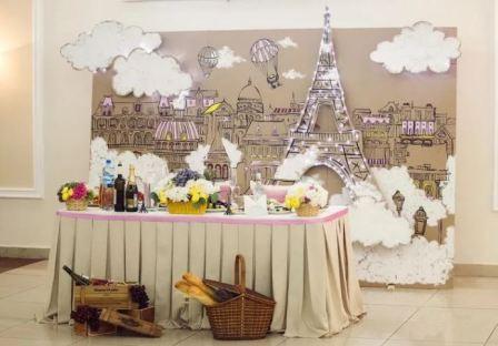 Свадьба в стиле Париж