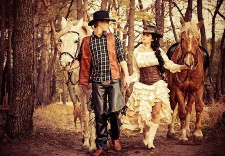Тематическая ковбойская свадьба в стиле Вестерн