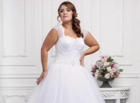 Полная невеста в свадебном платье