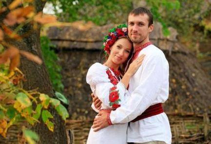 Национальные наряды жениха и невесты на Украине