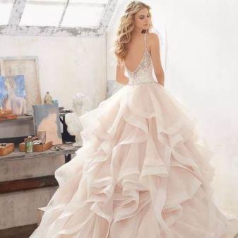Свадебное платье цвета айвори, фото