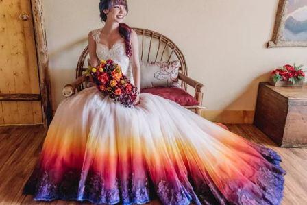 Цвета свадебного платья: нестандартные варианты