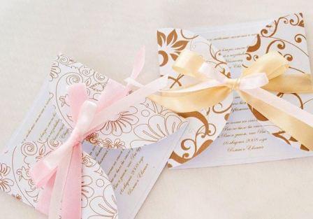 Выбор цвета свадебной открытки