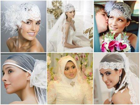 Свадебные украшения: платки и повязки