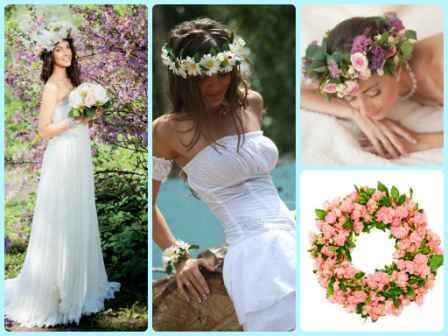 СВвадебные украшения: венок невесты