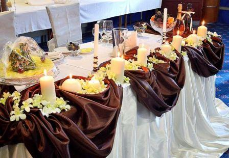 Свадебный зал в шоколадном стиле