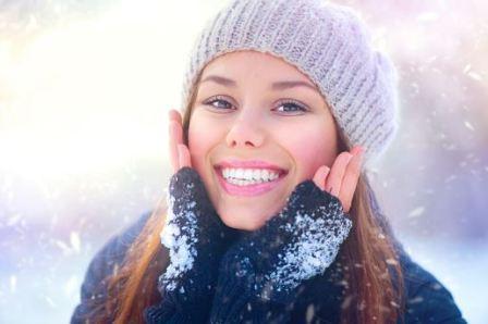 Кожа лица зимой
