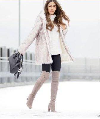 С какой обувью носить шубу зимой