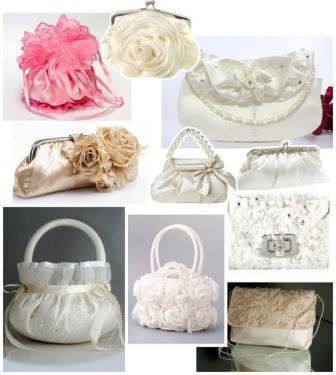 Свадебные сумочки для невесты: декор